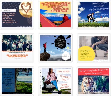 100 gotowych projektow grafik z motywujacym cytatem w darmowym programie canva